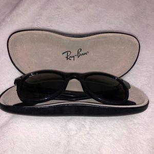 Polarized women's Ray-Ban sunglasses.
